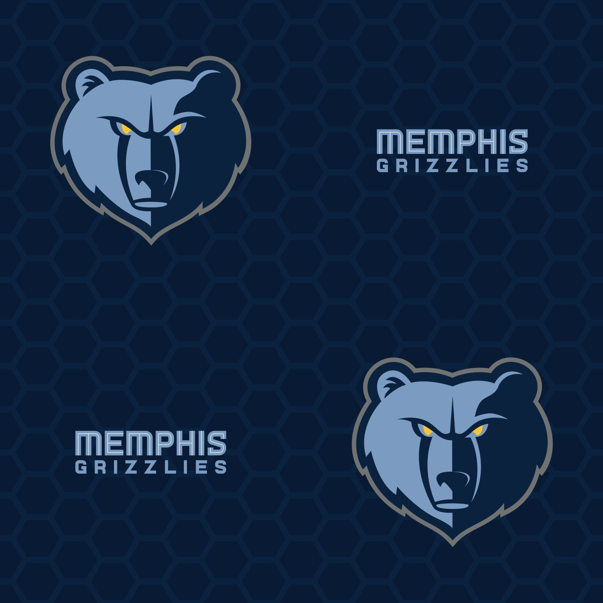 Memphis Grizzlies Logo Pattern Blue Officially Licensed