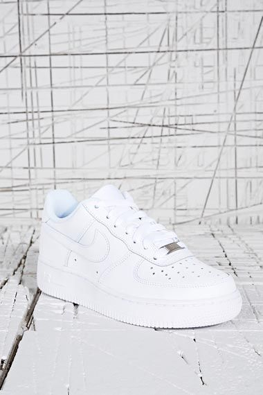 Nike Air Force 1 Low Trainers in White at Urban Outfitters