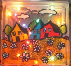 Faux vitrail sur bloc de verre recherche google arts for Faux vitrail sur miroir