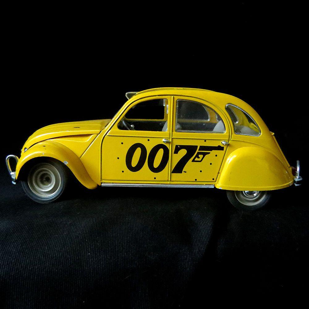 Vintage James Bond 007 Citroen Diecast 1 17 Solido France For Ur Eyes Only 2 Cv Solido Diecast James Bond Car Model