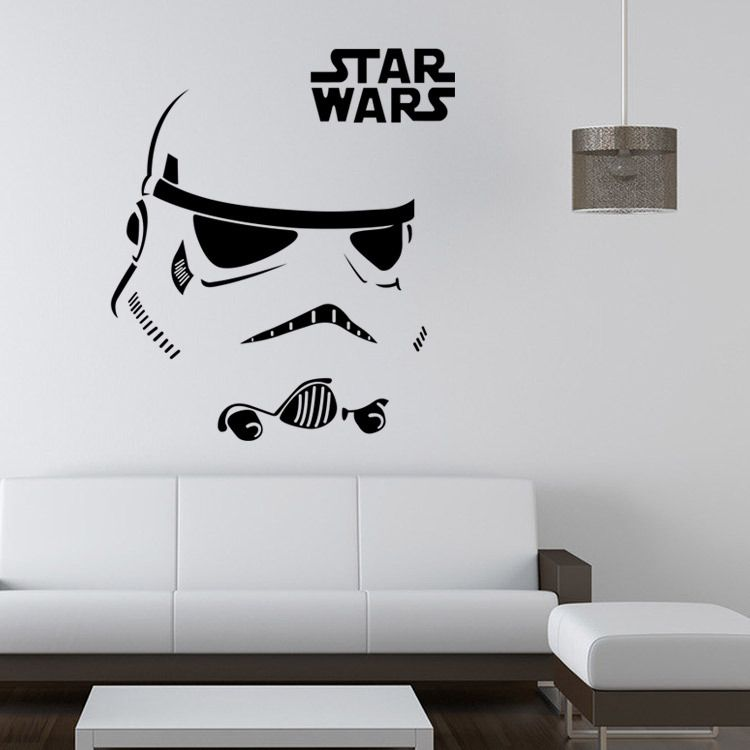 Stormtrooper darth vader starwars star wars vinyl wall stickers wall decals home decor wall art decal