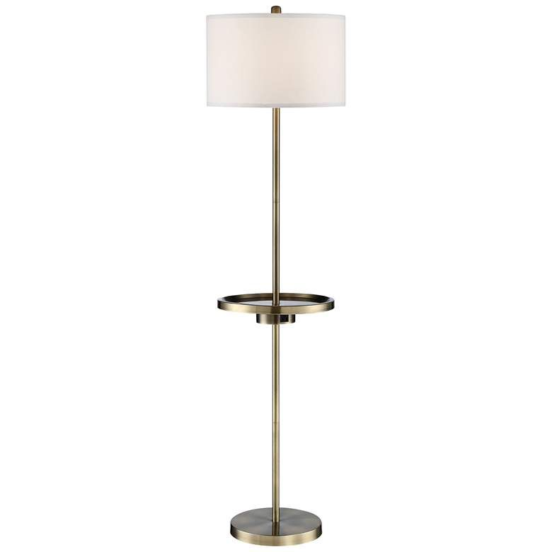 Lite Source Tungsten Antique Brass Floor Lamp W Tray Table 69m39 Lamps Plus Brass Floor Lamp Floor Lamp Antique Brass Floor Lamp