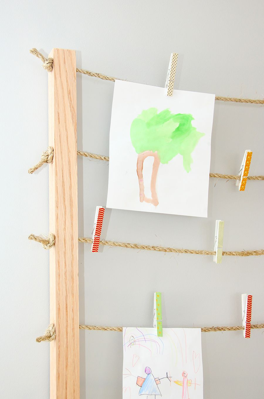 The Kids Clothesline Simple Clothesline Photo Display  Diy Photo Frame  Small Storage Design Decoration