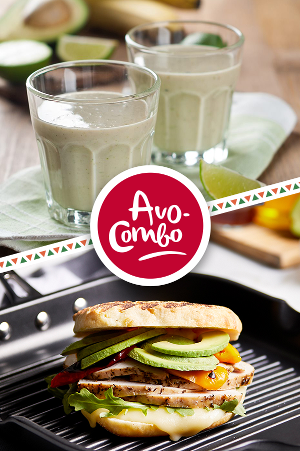 Turkey, Roasted Pepper and Mozzarella Paninis with Avocado | Avocados from Mexico