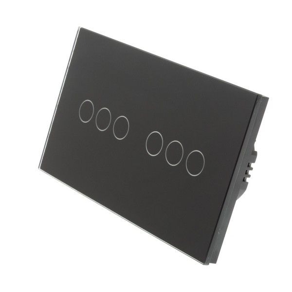 I Lumos Wifi Dimmer Touch Light Switch Black Double Panel 6