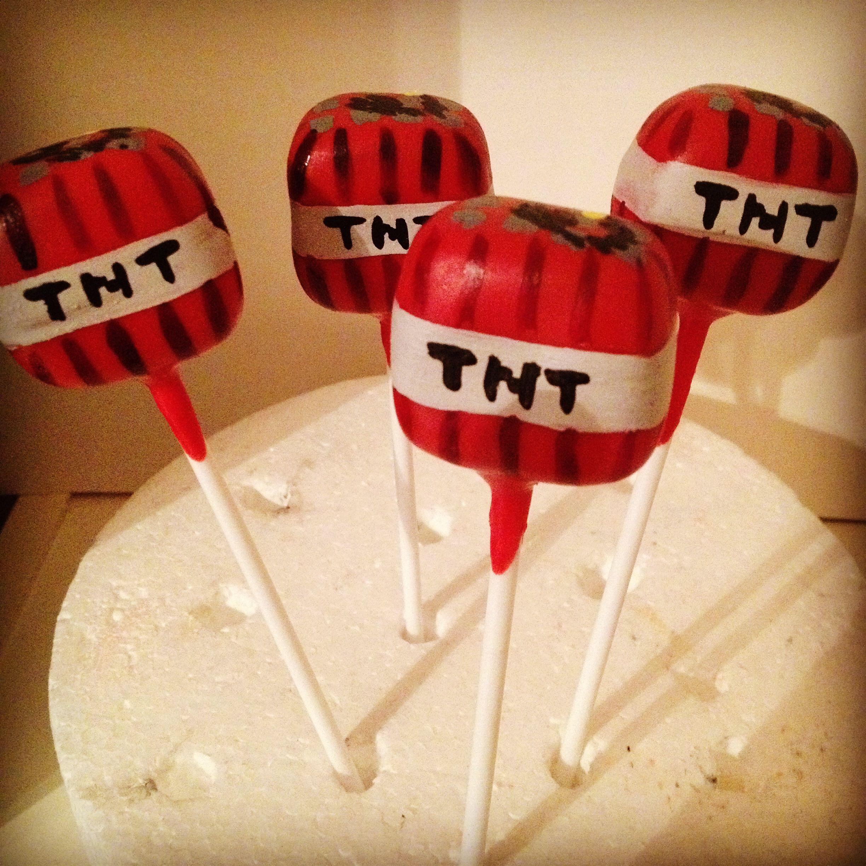 Minecraft tnt cake pops hannah 39 s cake pops pinterest minecraft