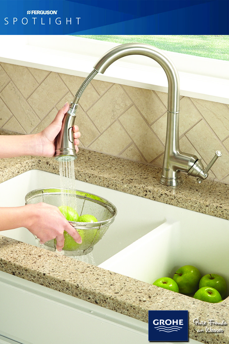 The Joliette Collection By Grohe At Ferguson Kitchen Faucet Grohe Plumbing Fixtures