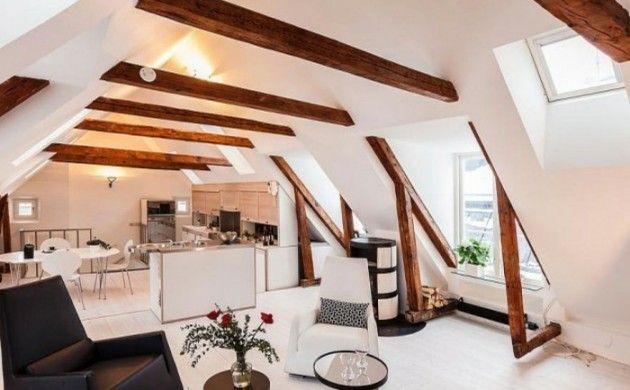 Dachgeschosswohnung kücheneinrichtung dachschräge deko ideen küche36 - küche in dachschräge
