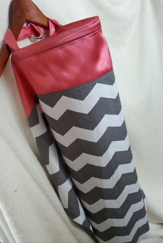 Nursing Cover Coral and Grey Nursing Cover Up by besostylish, $20.00