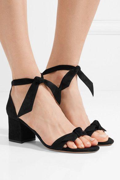 Clarita Bow-embellished Suede Sandals - Black Alexandre Birman jHvVKsJ
