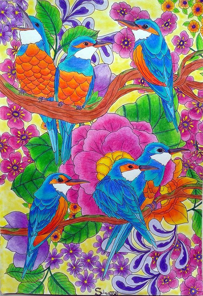 livre flower power hachette coloriage :  l'éclat des couleurs par solveig