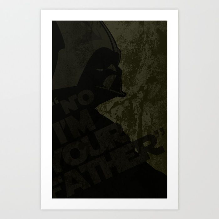 Yellow I'm your Father Art Print by Victor Santaella Kruk | Society6