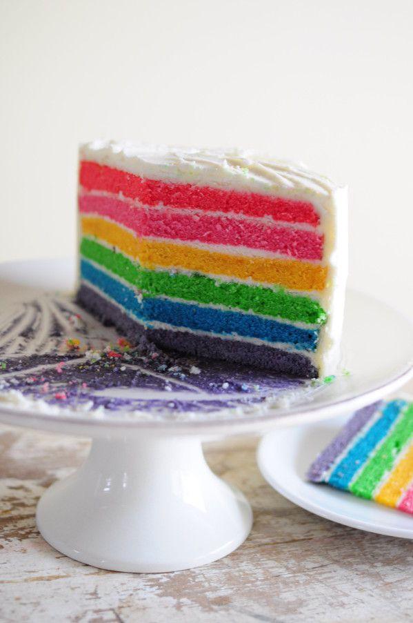 recette du rainbow cake - blog de cuisine créative, recettes