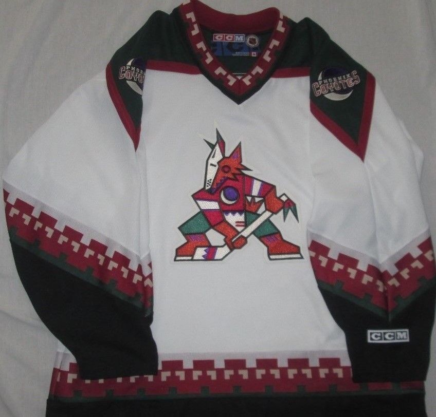 best website 06f4f dd829 Vntg 90s PHOENIX ARIZONA COYOTES NHL Kachina Jersey Sz XL ...
