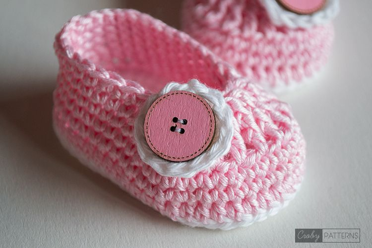 Croby Patterns   PRINCESS SMILE and SOCK BOOTIES Crochet Pattern