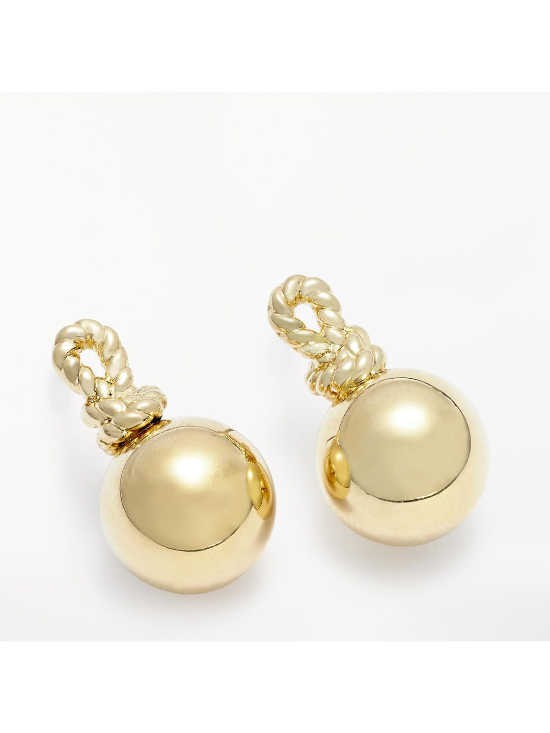 3992a7408 Buykate spade new york Mini Ball Drop Earrings, Gold Online at johnlewis.com