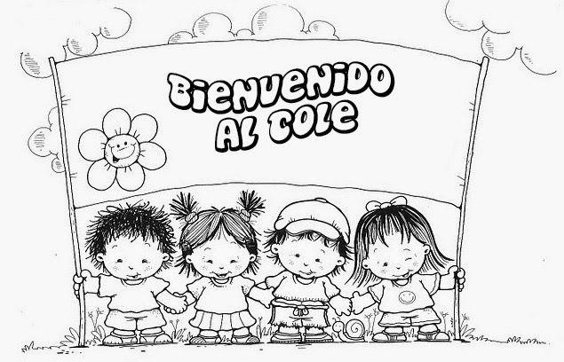 Colorea Tus Dibujos Bienvenidos Al Colegio Para Colorear Y Pintar