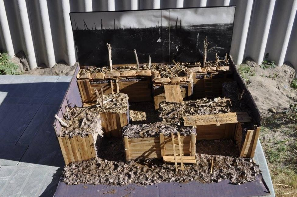 Ww1 Trench Model Diorama Project Idea And Easy Project Idea For School Kids To Make At Home Ww1 Art World History Classroom American History Lessons