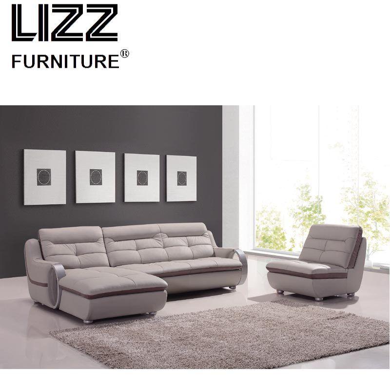 Living Room Furniture Modern L Shaped Fabric Sectional Sofa Set