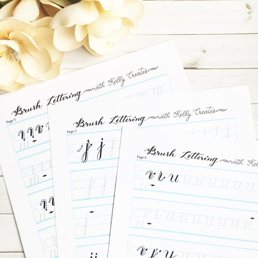 Brush Lettering Worksheets from Kelly Creates – Dying to Be Thin Worksheet