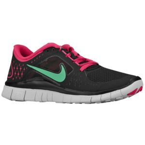 new products 27a33 2c844 Nike Free Run + 3 - Women s - Running - Shoes - Black Stadium  Green Fireberry Pure Platinum