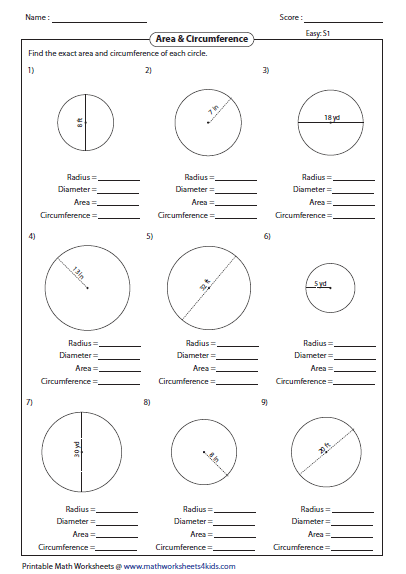 Pin By Joanna Gonzaga On Kids Stuff Area Worksheets Geometry Worksheets Circle Math
