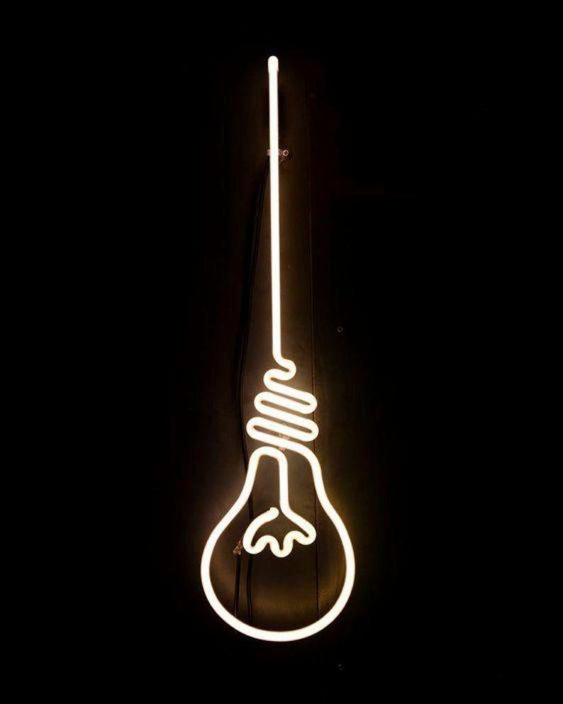 Bulb Neon Sign, Bulb Lamp Neon Sign Light, Bulb Sign LED Neon Light, Home Décor Neon Light, Bulb Fle