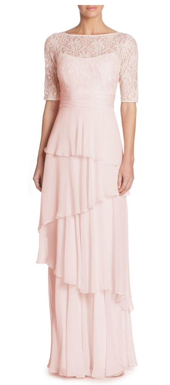 206a7ea2c7d2 Teri Jon by Rickie Freeman Tiered Lace & Chiffon Gown Saks   Stuff I ...