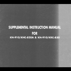 brother kh910 supplemental instruction manual for color changers rh pinterest com KRC Radio Mount Lavinia KRC