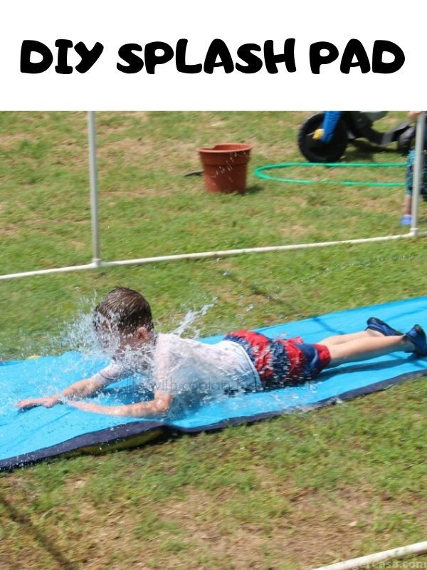 DIY Splash Pad for Your Backyard Summer Fun! in 2020   Diy ...