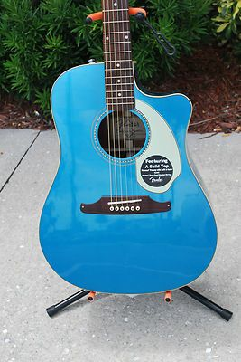 2012 Fender Sonoran S Acoustic Guitar Lake Placid Blue
