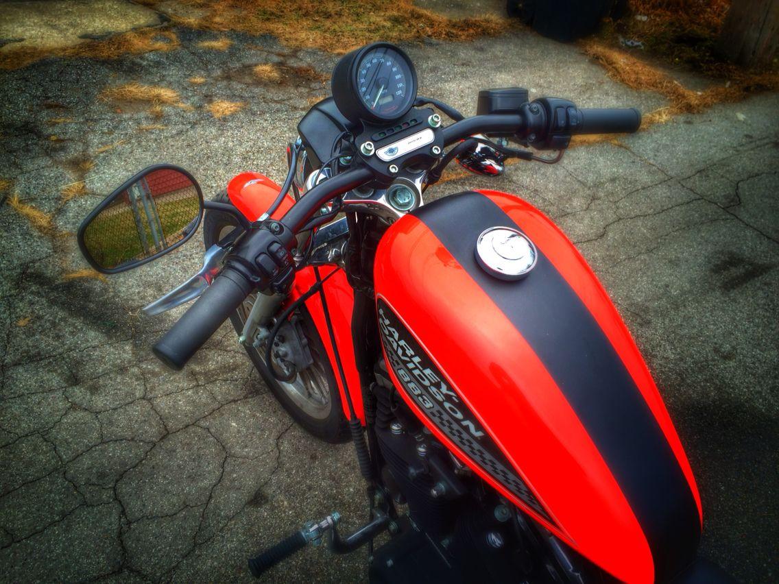 Drag handlebars on my 884r | Sportster Cafe Racer 883R | Sportster