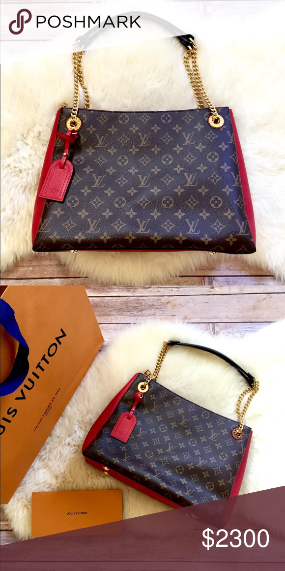 ac8f78f81f Louis Vuitton Surene MM Chain Bag New With Box, Shopping Bag, Dust ...