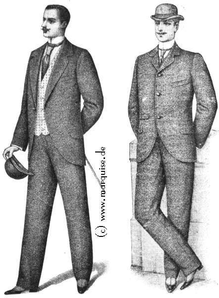 Lounge Suit, Business Suit, 1898 Look at those pointy shoes they ...