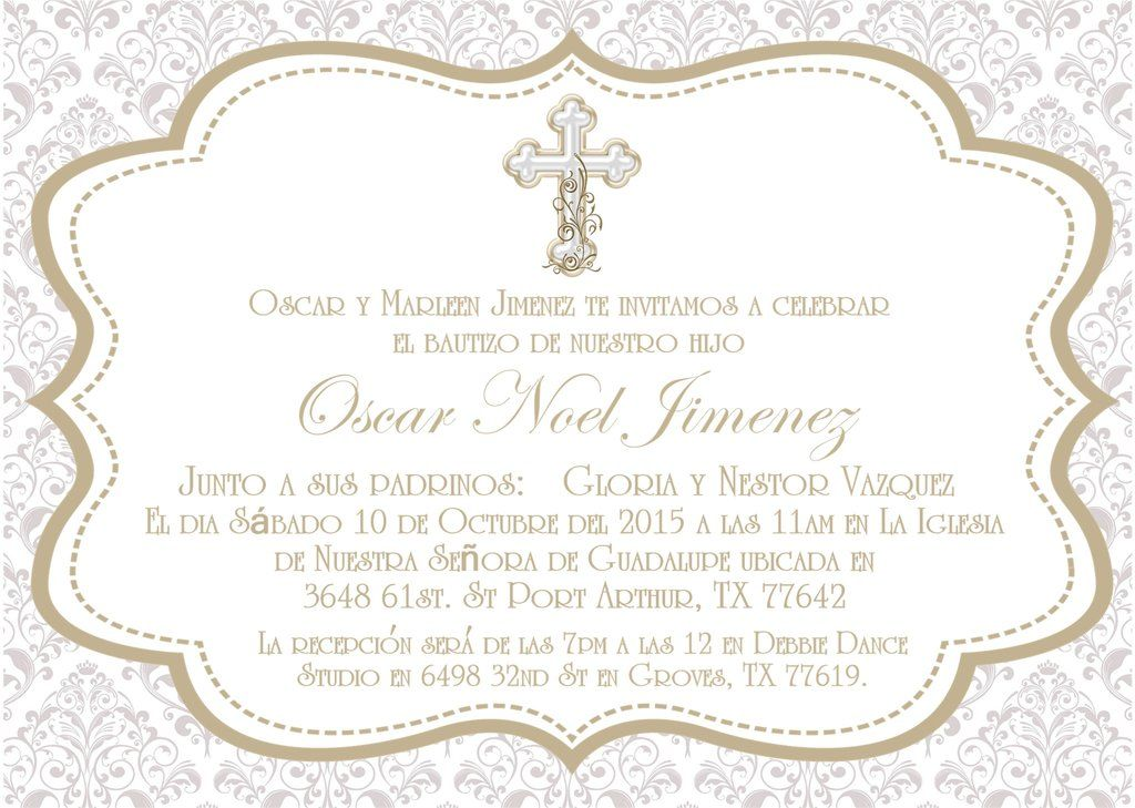Spanish Baptism Invitations Baptism invitations