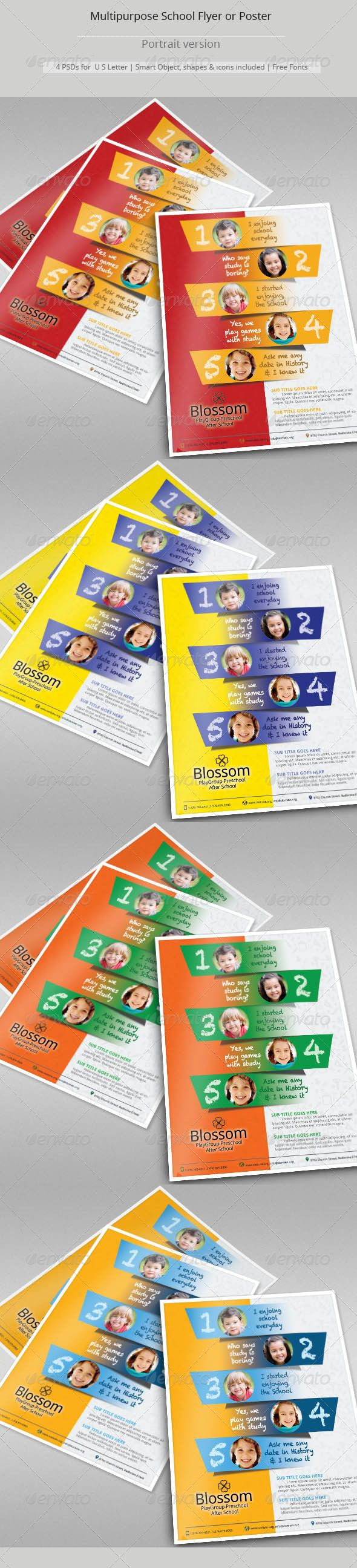 Multipurpose School Flyer Templates Flyer Template Template And - Buy flyer templates