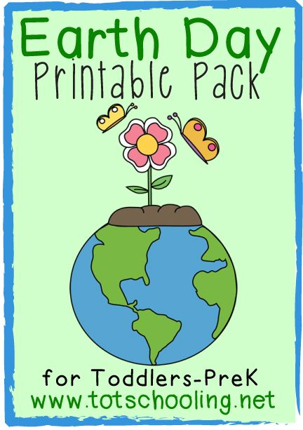 Free Earth Day Printable Pack For Toddlers Preschool