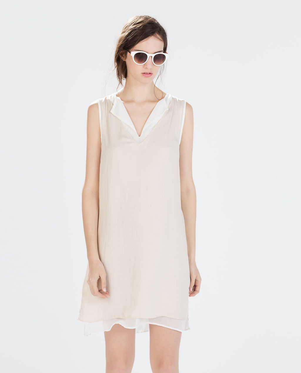 Image 2 of COMBINED LAYERED DRESS from Zara  19,99