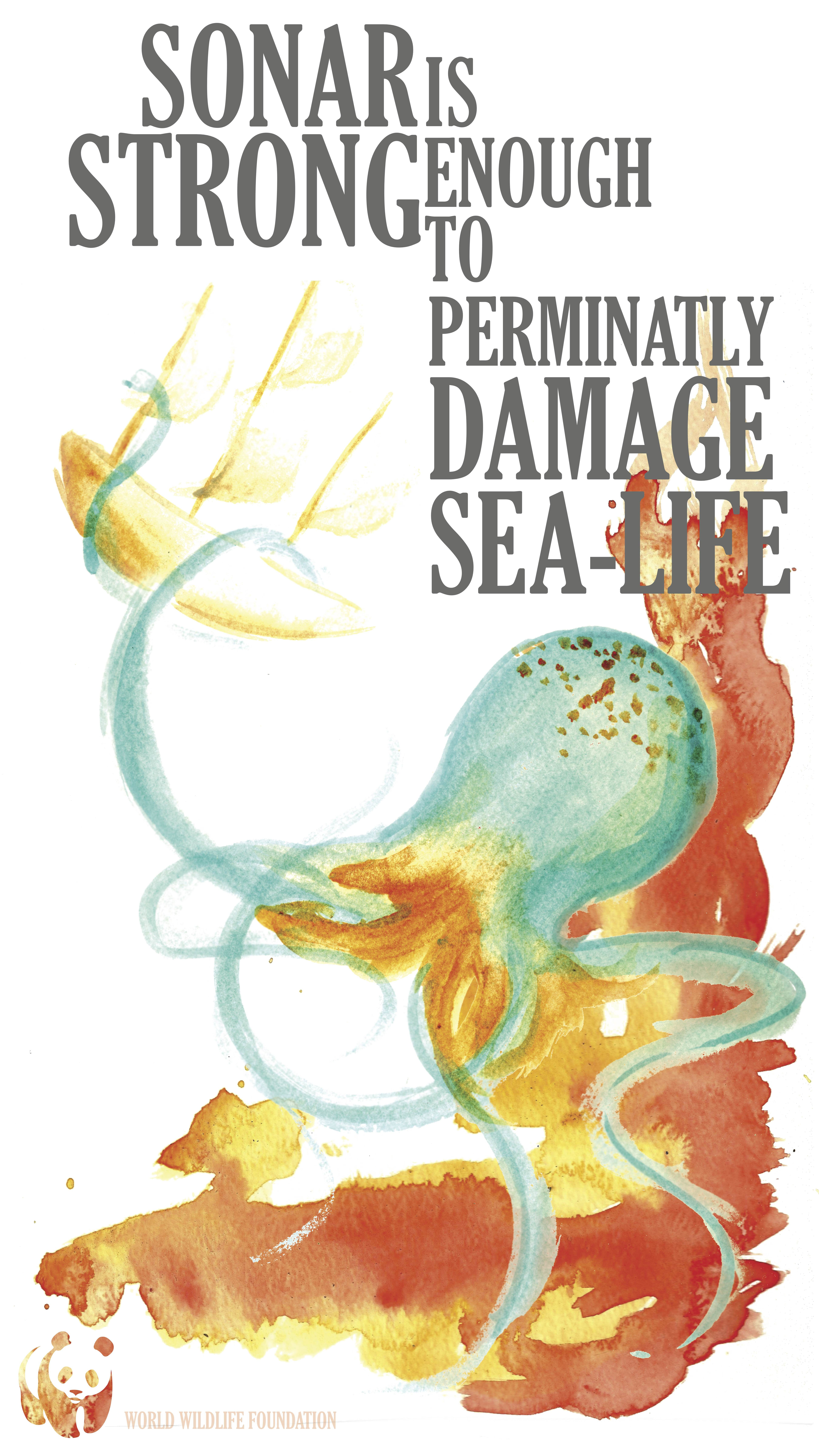 Poster, How sound effects sea life  Kraken | Poster