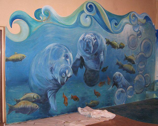 Underwater mural @ Spokes   Ocean mural, Kids room murals ...