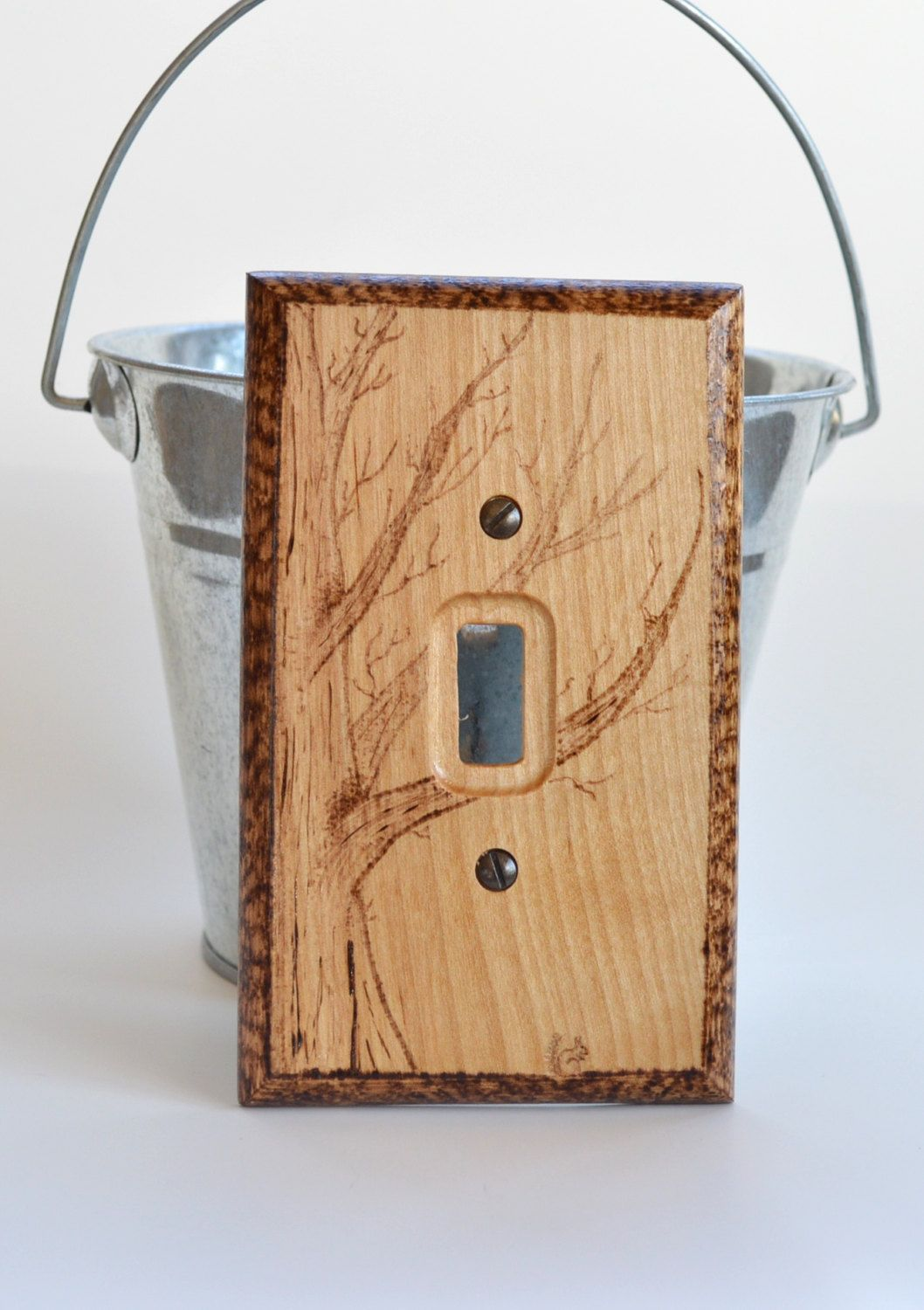 Log Cabin Double Switch Plate Cover - mom had many 3d covers ...