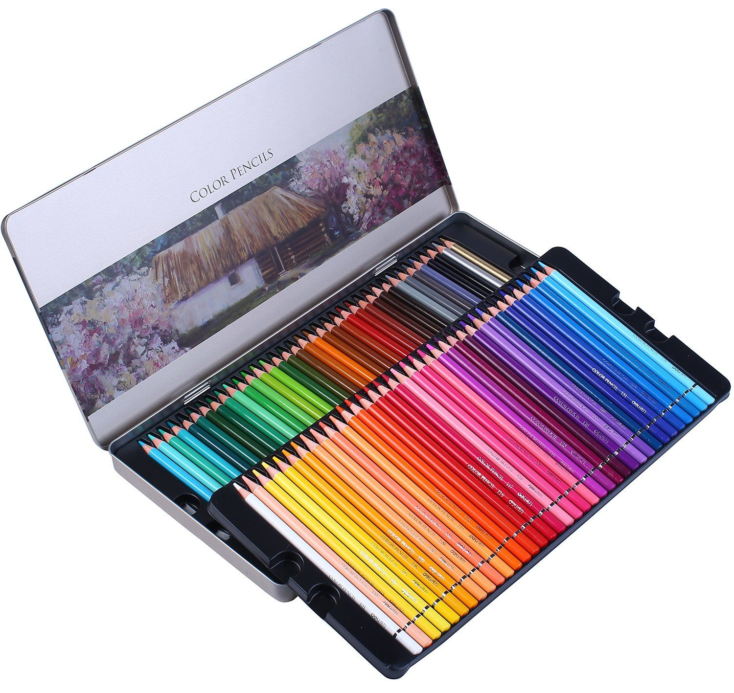 Colored Pencils Professional 72 Colored Pencil Set For Adult