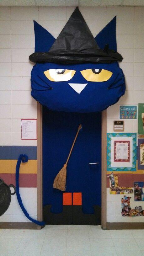 Pete The Cat Witch Classroom Door Halloween Classroom Door Pete The Cat School Door Decorations