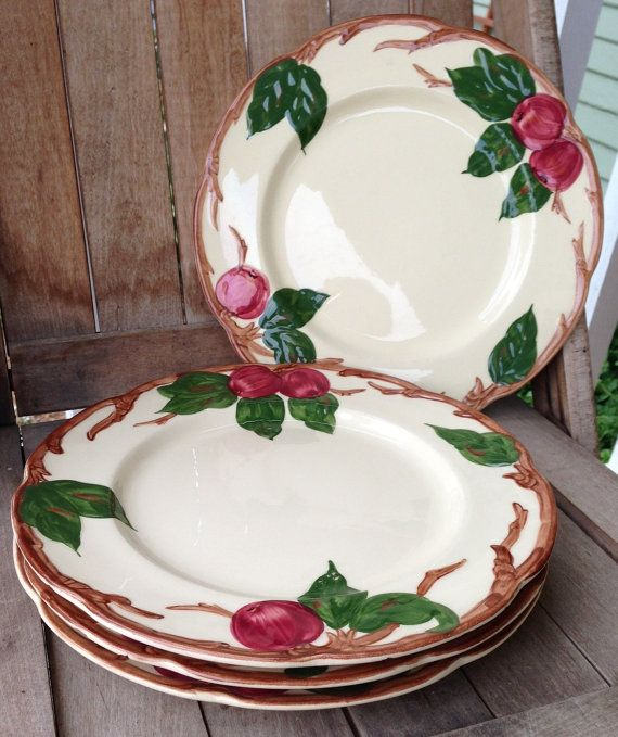 Franciscan Ware Apple China Set Of 4 Medium By Everysomeday