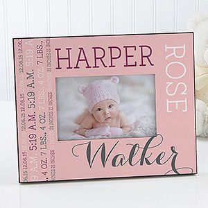 Darling Baby Girl Personalized Picture Frame Baby Fever