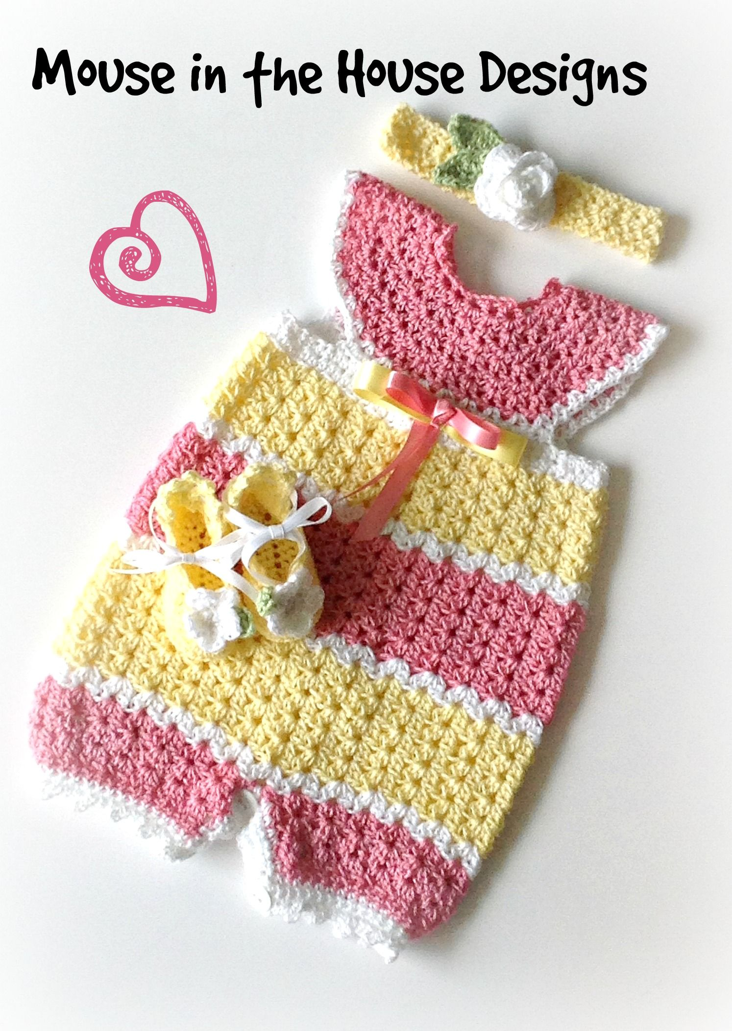 Crochet Infant Romper 0-3M matching crochet headband and crochet ...