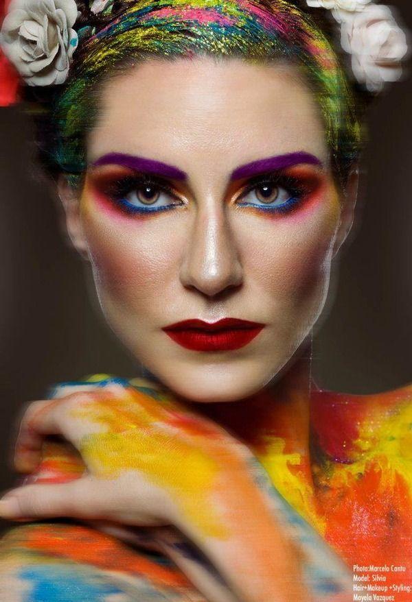 Frida Kahlo Make-Up and Hair inspiration