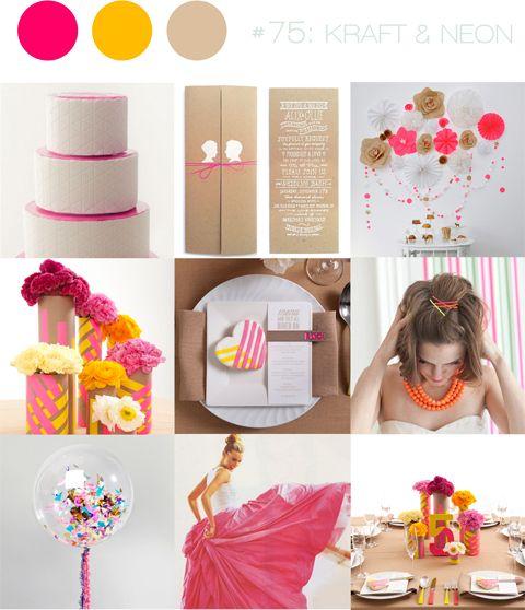 inspiration board #75: kraft & neon   bloved weddings   UK Wedding Blog   Wedding Inspiration & Styling