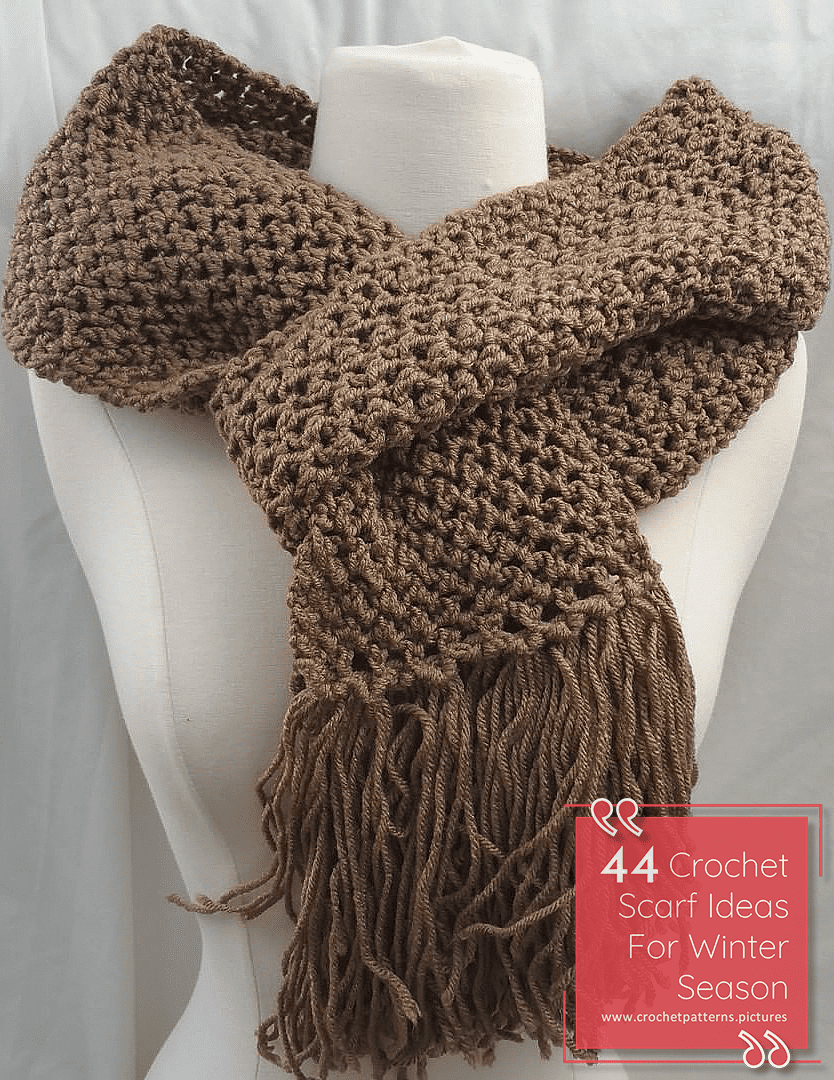 44 Different Crochet Scarf Design Ideas For Fashion Lovers Scarf Design Crochet Scarf Scarf Crochet Pattern