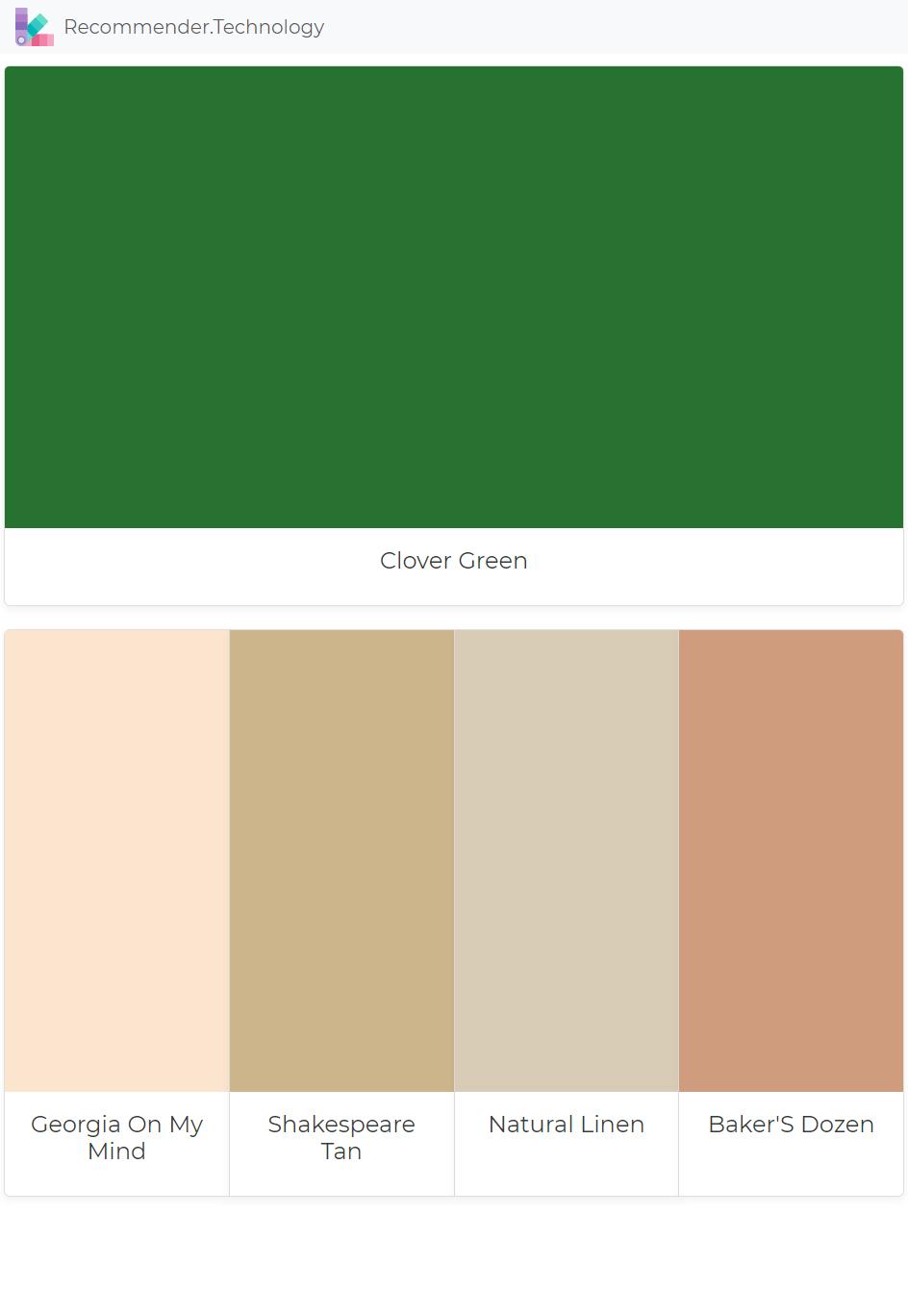 Clover Green Georgia On My Mind Shakespeare Tan Natural Linen Baker S Dozen